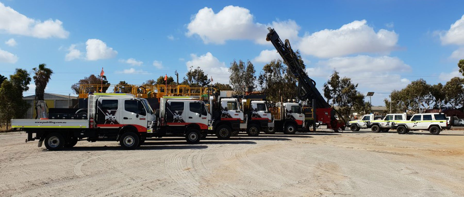 Drilling equipment in our Geraldton yard