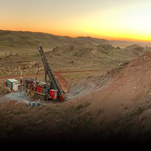 Drill rig at remote location in Western Australia