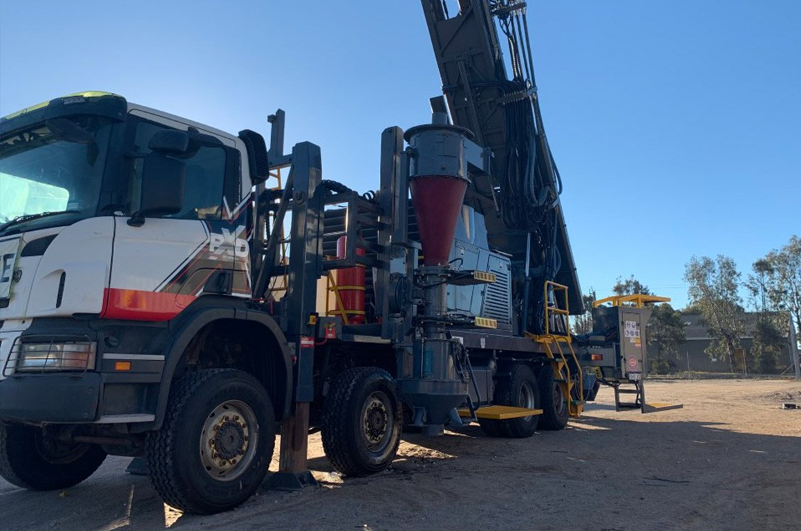 Precision Exploration Drill rig at our yard in Kalgoorlie